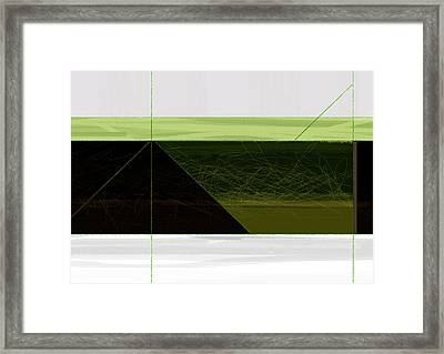 Green Mountain Framed Print by Naxart Studio