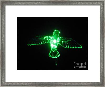 Green Neon In Flight Framed Print