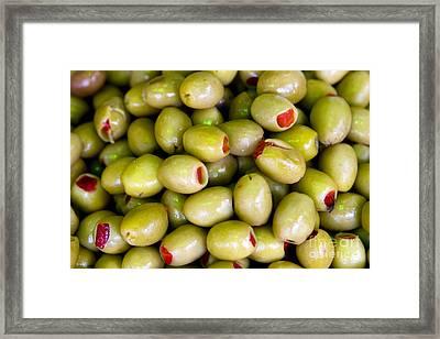 Green Olives Framed Print