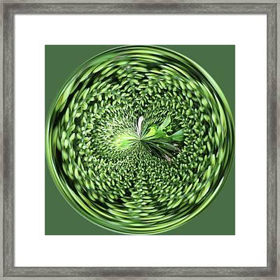 Green Orb Framed Print