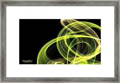 Green Over Black Framed Print by TanyDi Tany Dimitrova