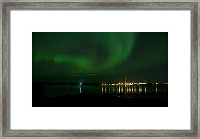 Green Over The Lake Framed Print