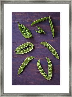 Green Peas In Pods Framed Print