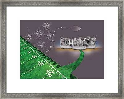 Green Pipes Framed Print by Foltera Art