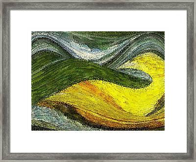 Green Sea Framed Print by Tinatin Dalakishvili
