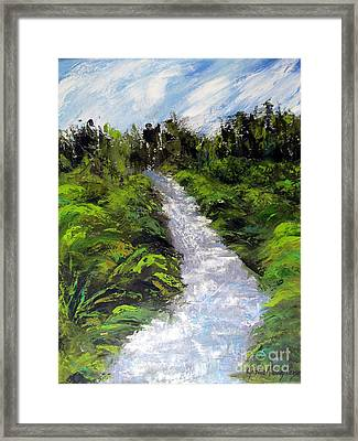 Green Spaces Framed Print by Cynthia Parsons