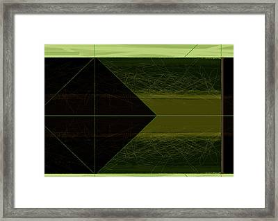 Green Square Framed Print by Naxart Studio