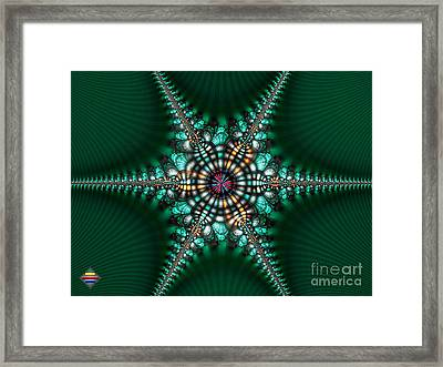 Green Starone Framed Print by Vidka Art