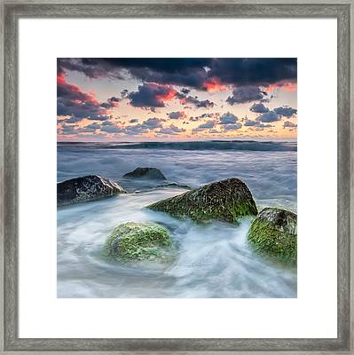 Green Stones Framed Print by Evgeni Dinev