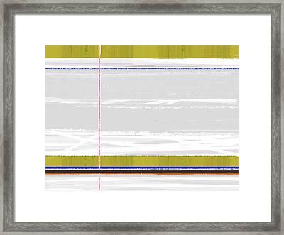 Green Strip Framed Print