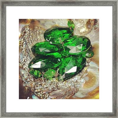 #green Stuff At My Moms House Framed Print