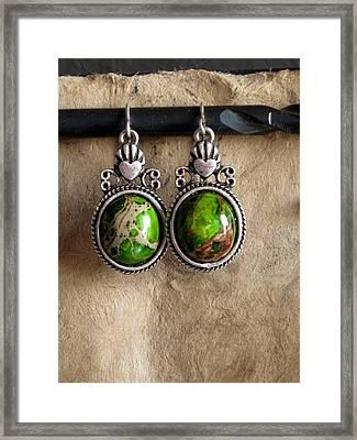 Green Turqoise Framed Print by Jan Brieger-Scranton