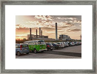 Green Van And Tirreno Power Framed Print