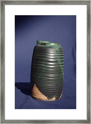 Green Vase Framed Print by Rick Ahlvers