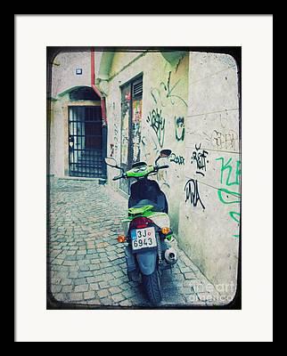 Street Mixed Media Framed Prints