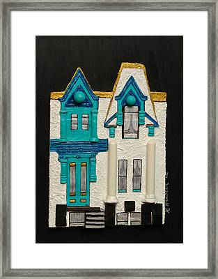 Green Victorian Mansion-montreal Framed Print