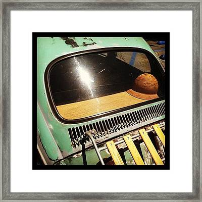 Green Vw Framed Print