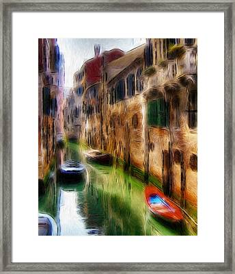 Green Water  Framed Print by Steve K