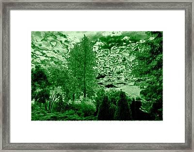 Green Zone Framed Print by Will Borden