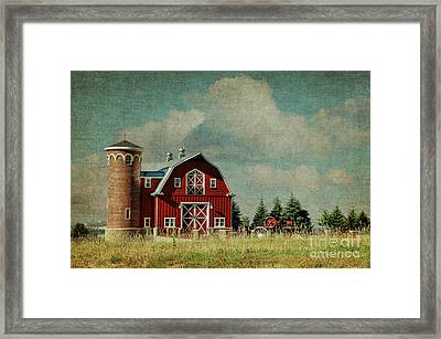 Greenbluff Barn Framed Print by Beve Brown-Clark Photography