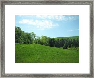 Greener Pastures Framed Print by Harry Wojahn