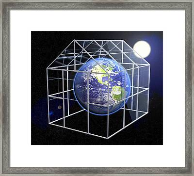 Greenhouse Effect, Conceptual Image Framed Print