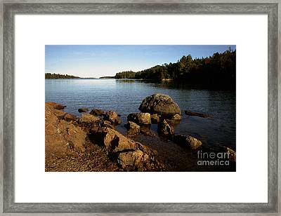 Greenlaw Cove Deer Isle Maine Framed Print by Thomas R Fletcher