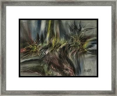 Framed Print featuring the pastel Greenleaves Turn To Brown3  2009 by Glenn Bautista