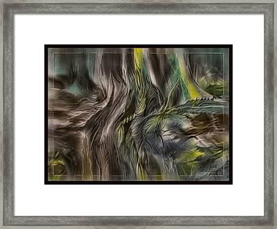 Framed Print featuring the pastel Greenleaves Turn To Brown4  2009 by Glenn Bautista