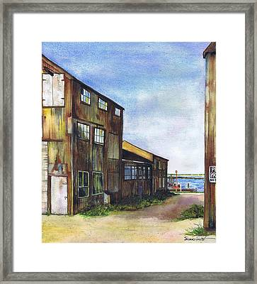 Greenport Boatyard Framed Print
