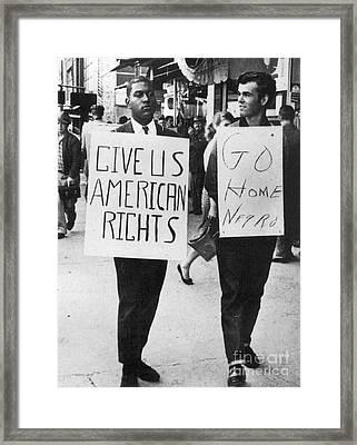 Greensboro Sit-in, 1960 Framed Print