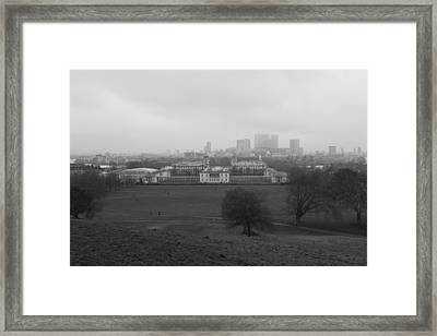 Framed Print featuring the photograph Greenwich View by Maj Seda