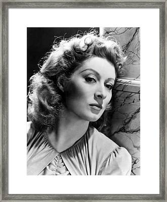 Greer Garson Framed Print by Everett