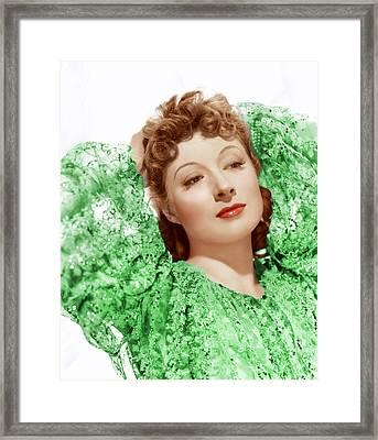 Greer Garson In Photo By Clarence Framed Print by Everett
