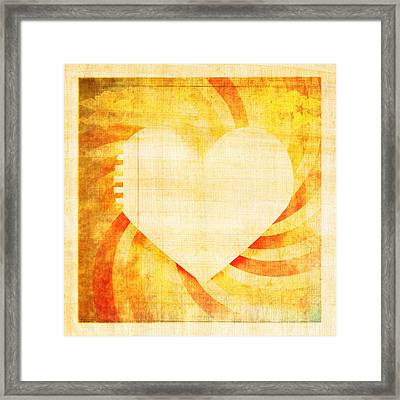 greeting card Valentine day Framed Print by Setsiri Silapasuwanchai