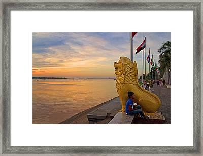 Greeting The Dawn. Framed Print