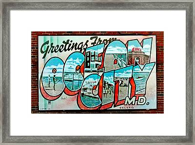 Greetings From Oc Framed Print