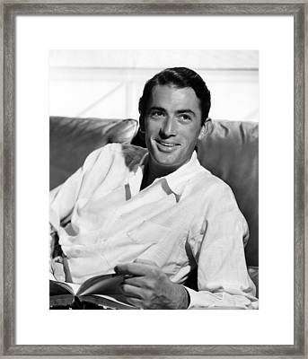 Gregory Peck In The Late 1940s Framed Print by Everett