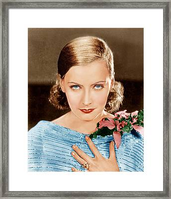 Greta Garbo, Mgm Portrait, Ca. 1928 Framed Print