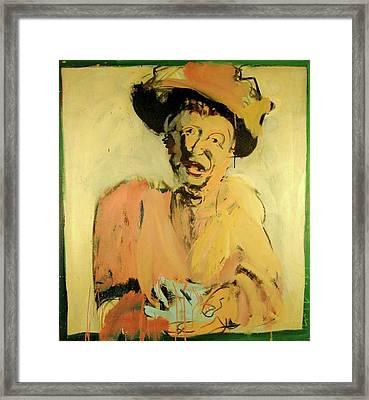 Framed Print featuring the painting Gretchen Colnik by Les Leffingwell