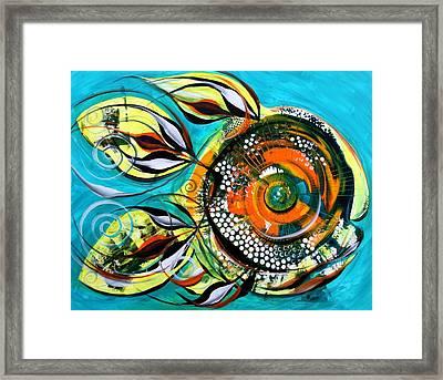 Gretchen Fish A Citrus Twist Framed Print