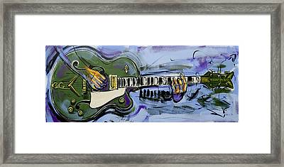 Framed Print featuring the painting Gretsch Guitar by John Gibbs
