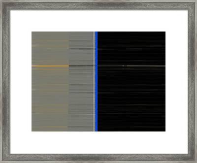 Grey And Black Framed Print