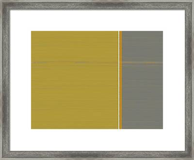 Grey And Green Framed Print by Naxart Studio