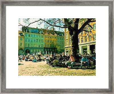 Grey Brothers Square I Framed Print by Asbjorn Lonvig