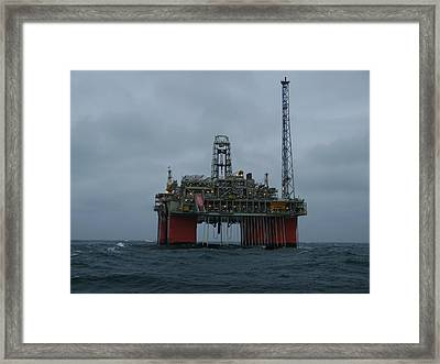 Framed Print featuring the photograph Grey Day At Snorre by Charles and Melisa Morrison