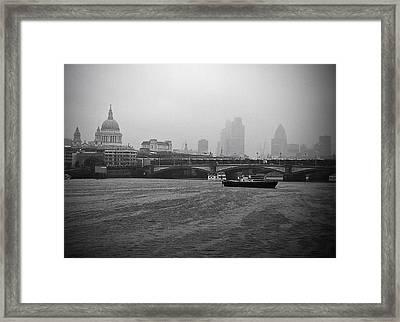 Grey London Framed Print by Lenny Carter