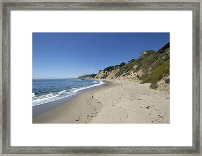 Greyhound Rock State Beach Panorama - Santa Cruz - California Framed Print by Brendan Reals