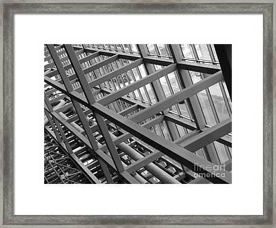 Grid Iron Framed Print by Kimberley Bennett