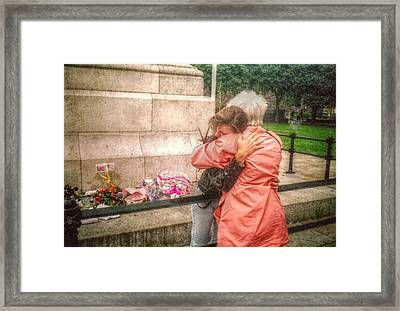 Grief And Compassion Framed Print